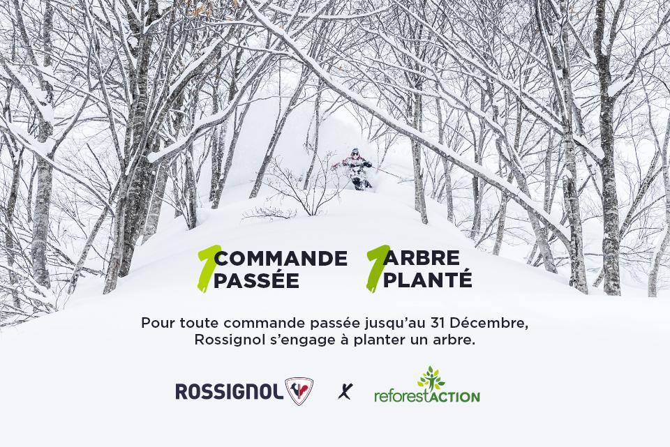 Pour toute commande passée jusqu'au 31 Décembre, Rossignol s'engage à planter un arbre.